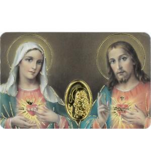 Image prière Coeurs de Jésus et de Marie