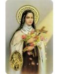 Carte prière Sainte Thérèse de Lisieux médaille