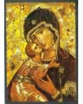 Icône Vierge de Tendresse de Vladimir 11 x 15 cm