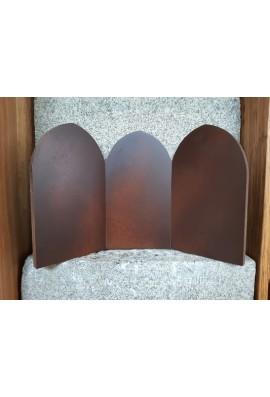Triptyque en bois, support icône.